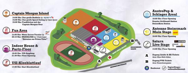 Überblick: USI Fest 2014 mit Kleeblattlauf