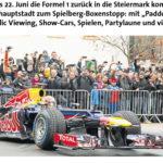 Graz Prix – Formel 1 Live Übertragung & Rahmenprogramm am Hauptplatz Graz